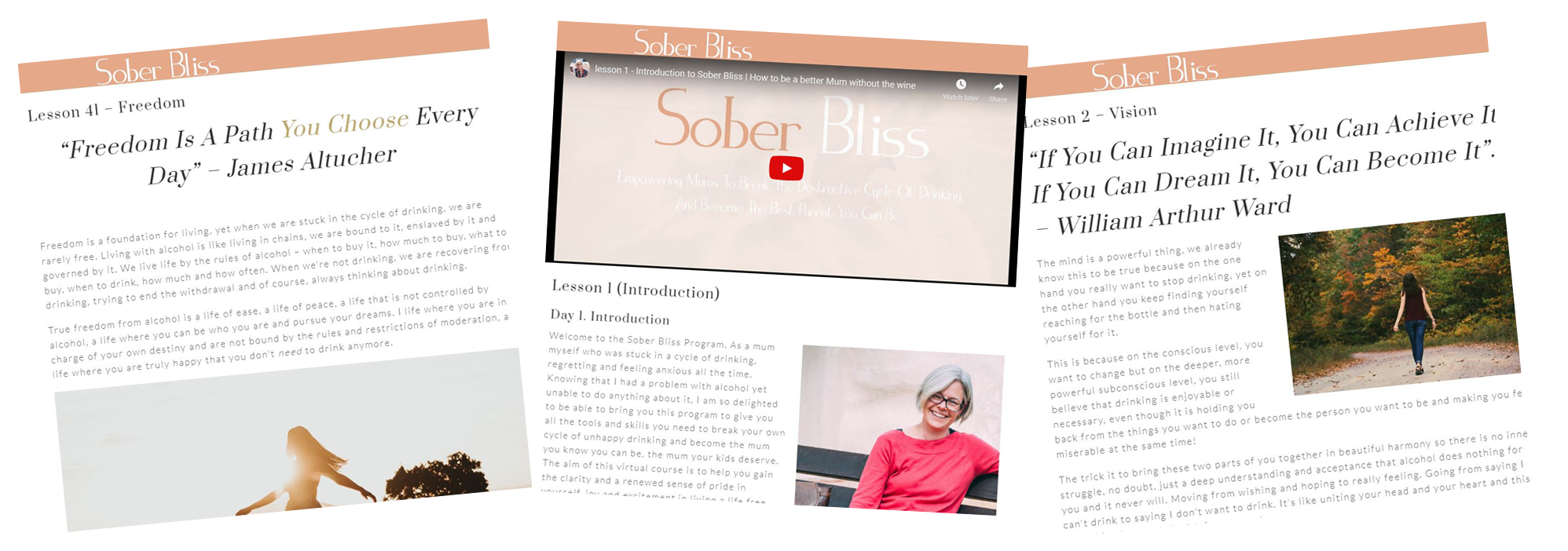 sober bliss pages