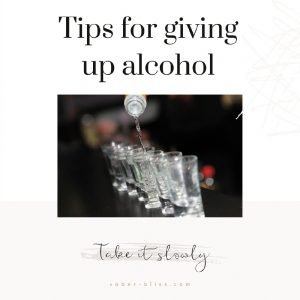 tips for giving up alcohol