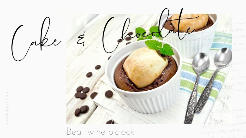 beat wine with cake and chocolate