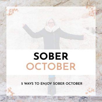 ways to enjoy sober october