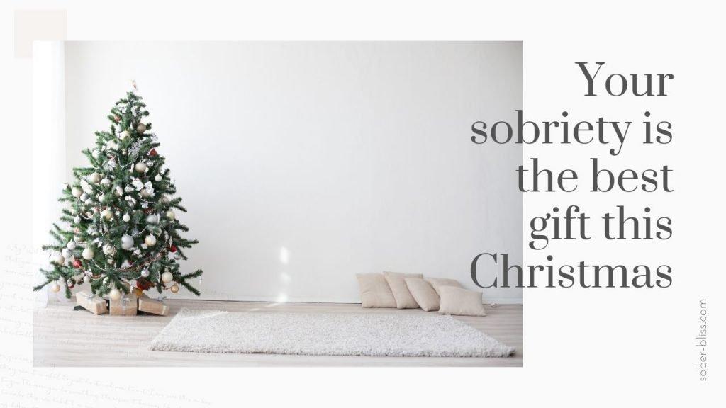 sober at christmas