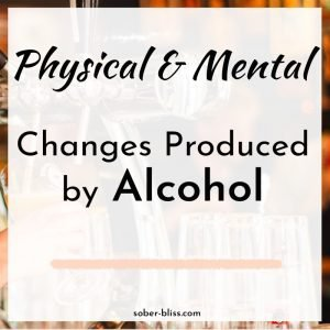 changes produced by alcohol