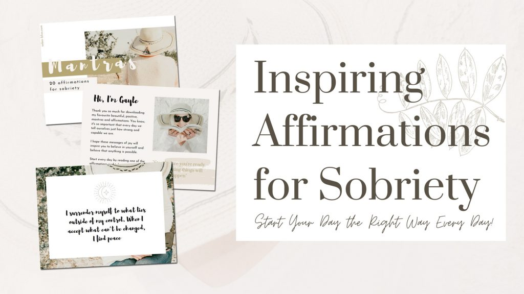 affirmations for sobriety