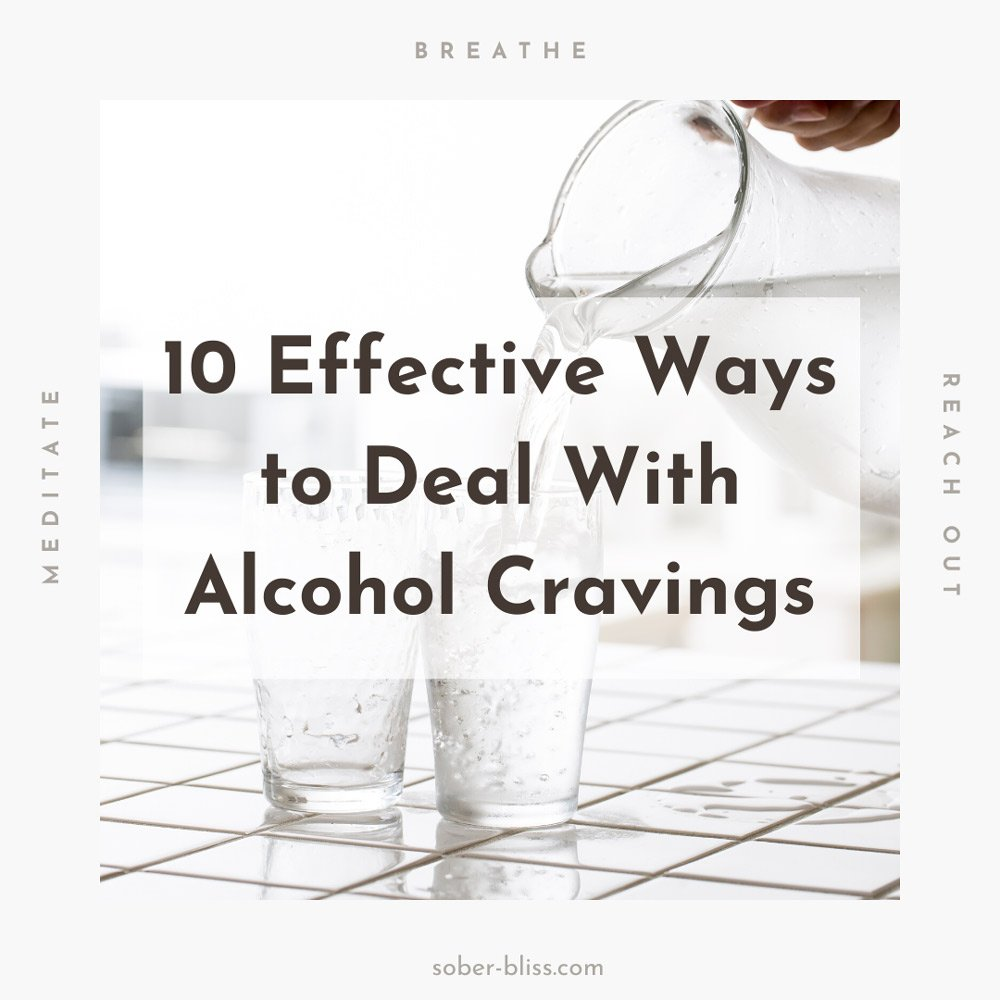 ways to deal with alcohol cravings