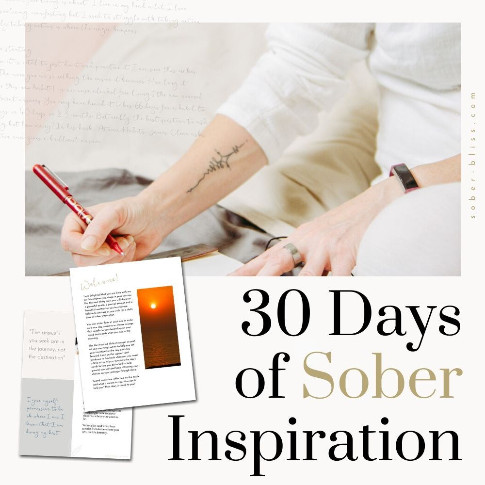 30 days of sober inspiration