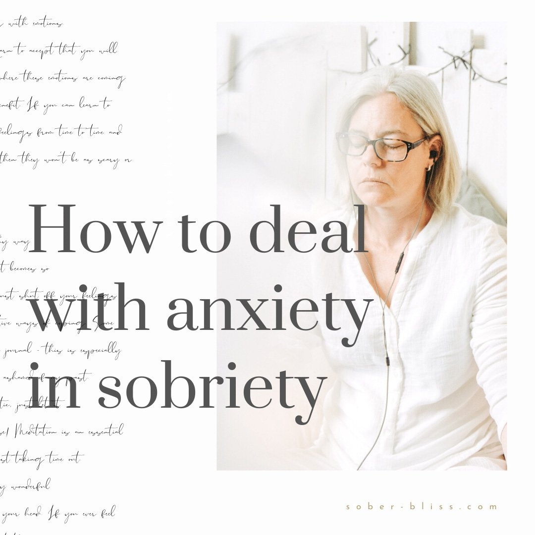 dealing with anxiety after quitting drinking