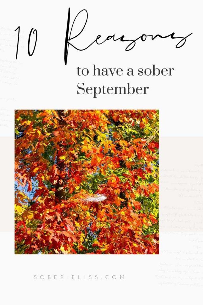 10 reasons to have a sober september