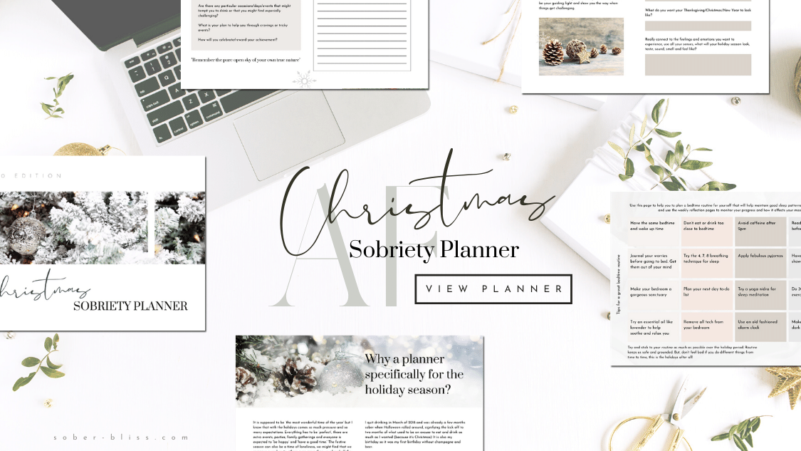 christmas sobriety printable planner