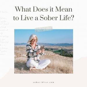 live a sober life