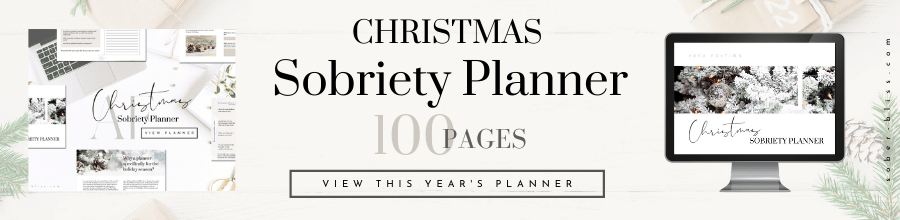 christmas sobriety planner