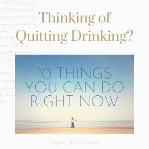 thinking of quitting drink