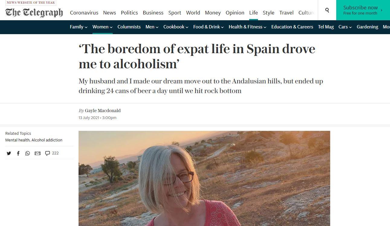alcohol free life gayle macdonald