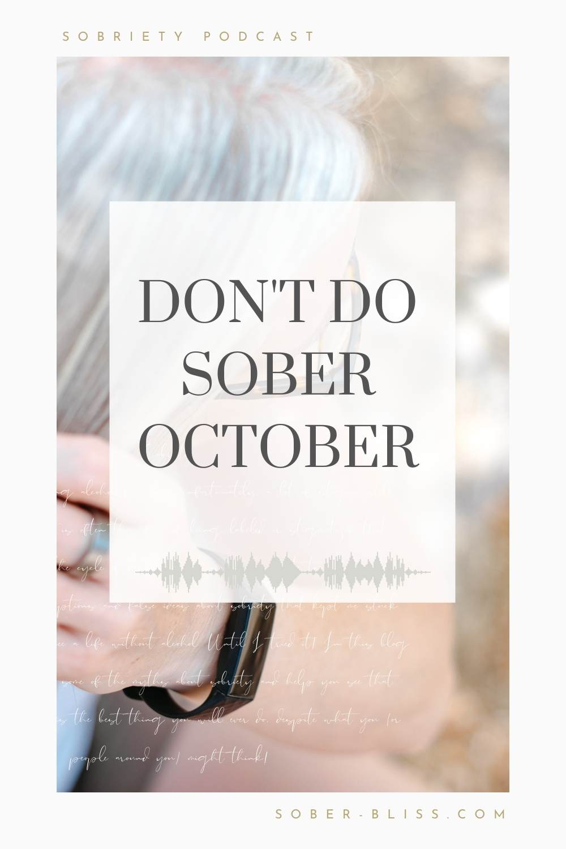 don't do sober october